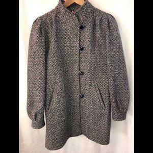 Vintage New York Girl Mid Length Wool Coat